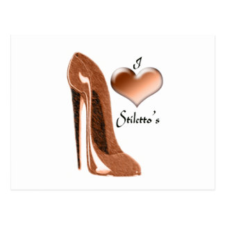 Love Toffee Stiletto Shoe and 3D Heart Postcard