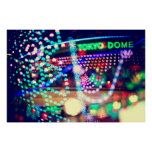 Love Tokyo Dome Colorful Psychedelic Heart Lights Print