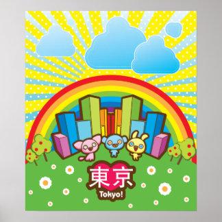 Love Tokyo Kawaii Poster