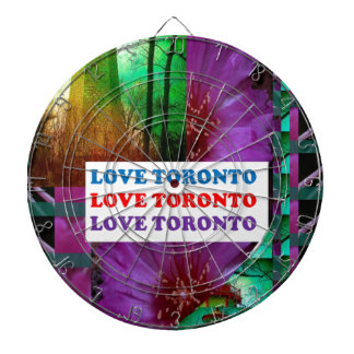 LOVE Toronto - Text n Oldest LIGHT TOWER Island Dartboard