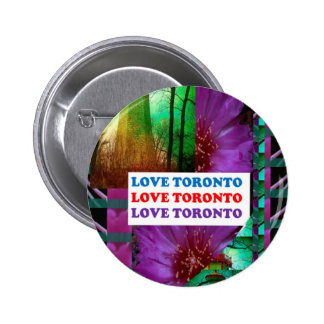 LOVE Toronto - Text n Oldest LIGHT TOWER Island Pinback Button