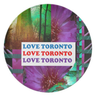 LOVE Toronto - Text n Oldest LIGHT TOWER Island Plates