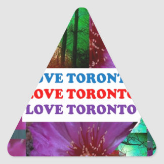LOVE Toronto - Text n Oldest LIGHT TOWER Island Triangle Sticker
