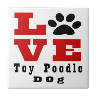 Love Toy Poodle Dog Designes Tile
