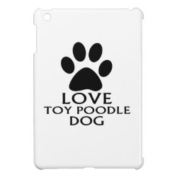 LOVE TOY POODLE DOG DESIGNS COVER FOR THE iPad MINI