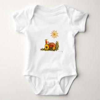 LOVE Tractor Baby Bodysuit