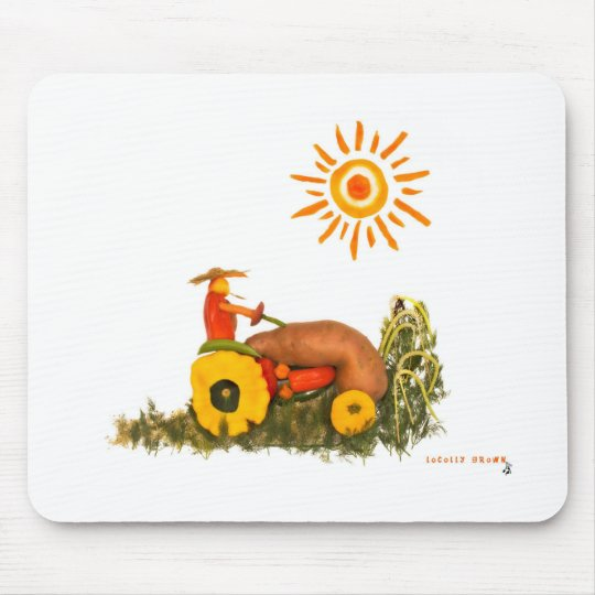 LOVE Tractor Mouse Pad