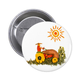 LOVE Tractor Pinback Button