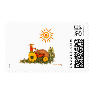 LOVE Tractor Postage