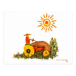 LOVE Tractor Postcard