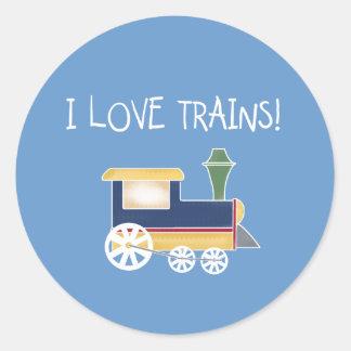 LOVE TRAINS CLASSIC ROUND STICKER