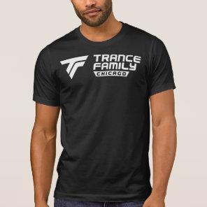 LOVE TRANCE FAMILY logo   hart in the back T-Shirt