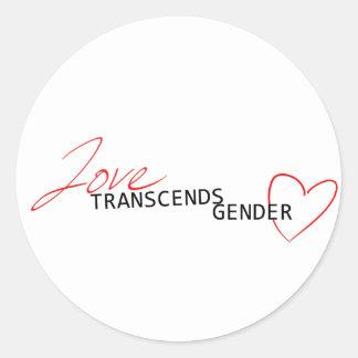 Love Transcends Gender Classic Round Sticker