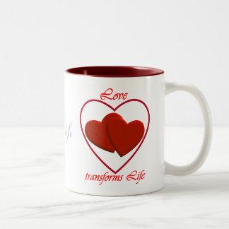 Love transforms Life 0002.2 Two-Tone Mug MaroonRed