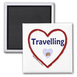 Love Travelling 2 Inch Square Magnet