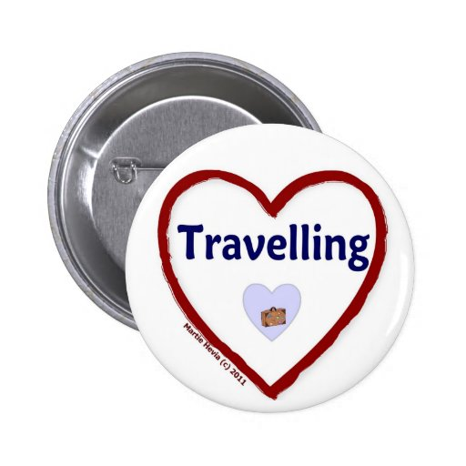 Love Travelling Buttons