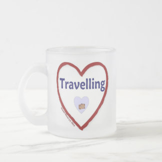 Love Travelling Frosted Glass Coffee Mug