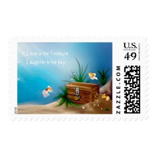Love Treasure Chest Inspirational Stamp