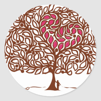 Love Tree Classic Round Sticker