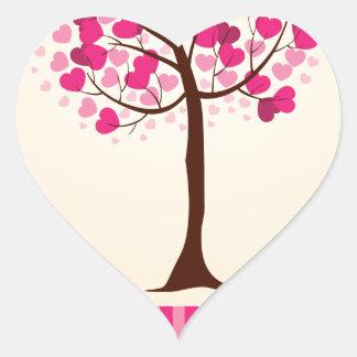 Love tree heart sticker