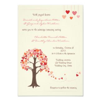 Love Tree Hearts Wedding Invitation