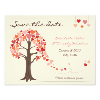 Love Tree Hearts Wedding Save the Date Personalized Announcement