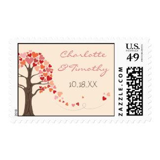 Love Tree Hearts Wedding Stamp