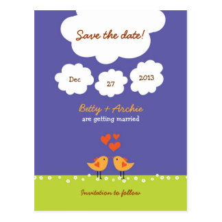 Love Tree (Night) Save the Date Postcard