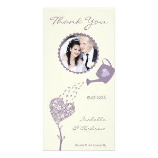 Love Tree - Vintage Soft Tones -Wedding Thank You Card