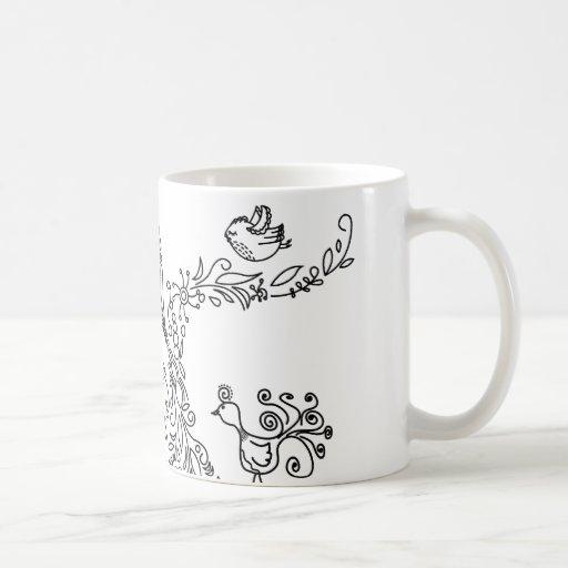 Love Tree with Birds Coffee Mugs