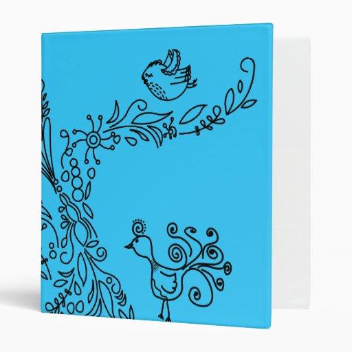 Love Tree with Birds Vinyl Binders