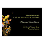 Love Trees Black Reception Inserts (3.5x2.5) Business Card Templates