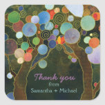 Love Trees Blue Wedding Thank You Favor Stickers