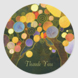 Love Trees Business Thank You Classic Round Sticker