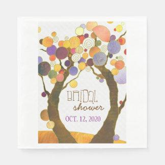 Love Trees Chic Bridal Shower Brunch Napkin