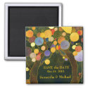 Love Trees Save the Date Wedding magnet