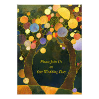Love Trees, Symbols of Love Wedding Invitations