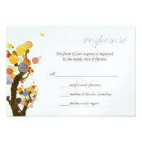 Love Trees White Ice Metallic Wedding RSVP (3.5x5) Personalized Invitation