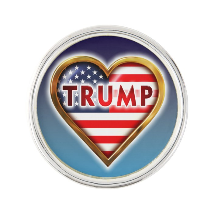 Love Trump Pin | Zazzle.com