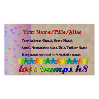 Love Trumps H8 Business Card Templates