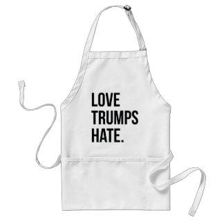 Love Trumps Hate Adult Apron