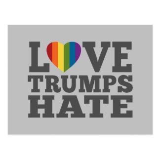 Love Trumps Hate - Anti Donald Trump Postcard