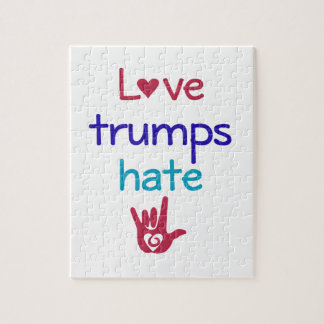 Love Trumps Hate Anti Trump Jigsaw Puzzle