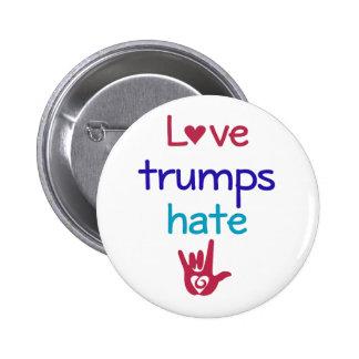 Love Trumps Hate Anti Trump Pinback Button