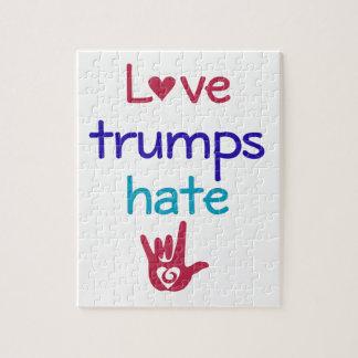 Love Trumps Hate Anti Trump Puzzle