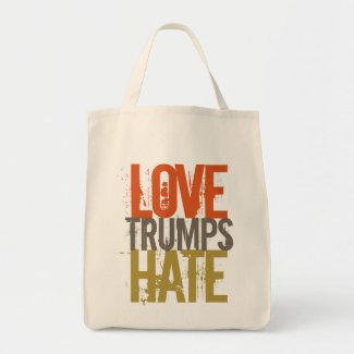 Love Trumps Hate Grocery Tote
