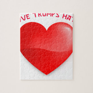 love trumps hate jigsaw puzzle
