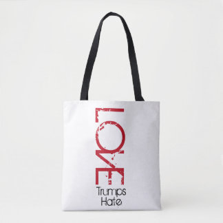 Love Trumps Hate / Not my President Tote Bag