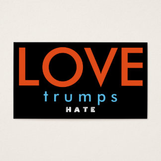 LOVE trumps HATE V Business Card