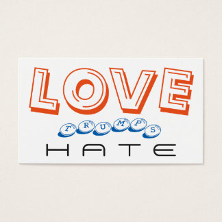 LOVE trumps HATE VIII Business Card